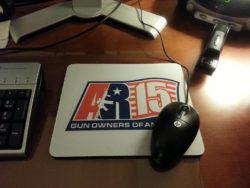 AR-15 GOA Logo MousePad – White