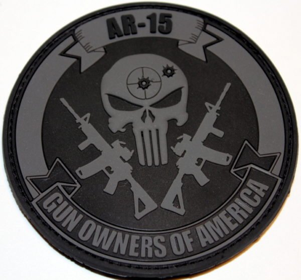 Punisher Patch – Black & Gray