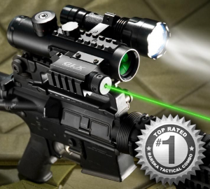 DA12190 – 4×30 IR Sight w/Green Laser & 210 Lumen Flashlight