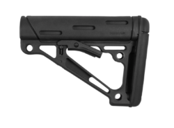 AR-15/M-16 OverMolded Collapsible Buttstock – Fits Mil-Spec Buffer Tube – Black Rubber