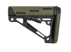 Hogue AR-15 OverMolded Collapsible Buttstock – Mil-Spec – OD Green Rubber