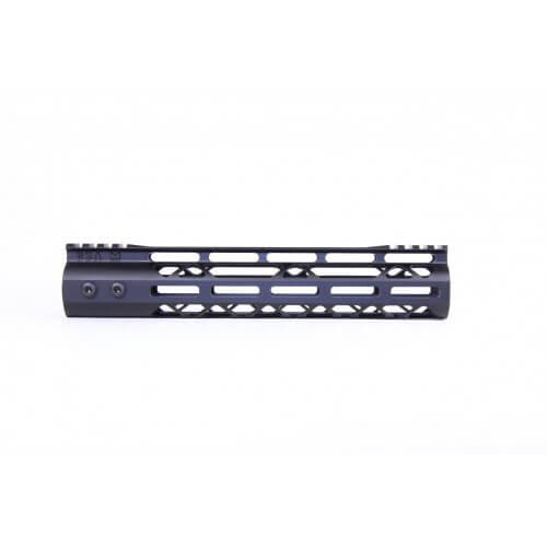 10″ MOD LITE SKELETONIZED SERIES M-LOK FREE FLOATING HANDGUARD WITH MONOLITHIC TOP RAIL – BY GUNTEC