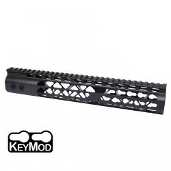 12″ AIR LITE KEYMOD FREE FLOATING HANDGUARD WITH MONOLITHIC TOP RAIL (O.D. GREEN) – BY GUNTEC