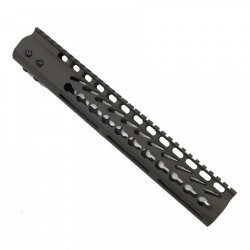 12″ ULTRA LIGHTWEIGHT THIN KEY MOD FREE FLOATING HANDGUARD WITH MONOLITHIC TOP RAIL (OD GREEN) – BY GUNTEC