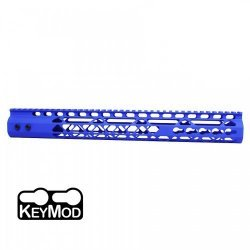 15″ AIR LITE KEYMOD FREE FLOATING HANDGUARD WITH MONOLITHIC TOP RAIL (BLUE) – BY GUNTEC