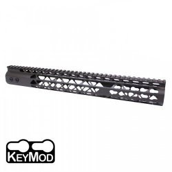 15″ AIR LITE KEYMOD FREE FLOATING HANDGUARD WITH MONOLITHIC TOP RAIL (O.D. GREEN)
