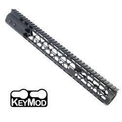 15″ AIR LITE KEYMOD FREE FLOATING HANDGUARD WITH MONOLITHIC TOP RAIL – BY GUNTEC