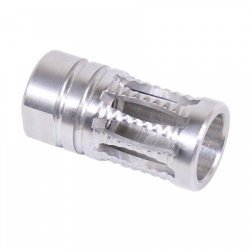 AR-15 A2 RIBBED STAINLESS STEEL BIRDCAGE FLASH HIDER - BY GUNTEC