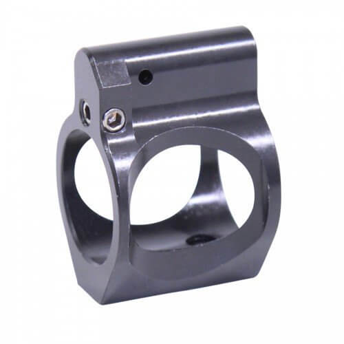AR-15 ULTRALIGHT SERIES SKELETONIZED ADJUSTABLE STEEL LOW PROFILE GAS BLOCK (NITRIDE FINISH) - BY GUNTEC